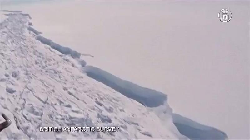Айсберг площадью 5800 кв. км откололся от ледника в Антарктиде (новости)