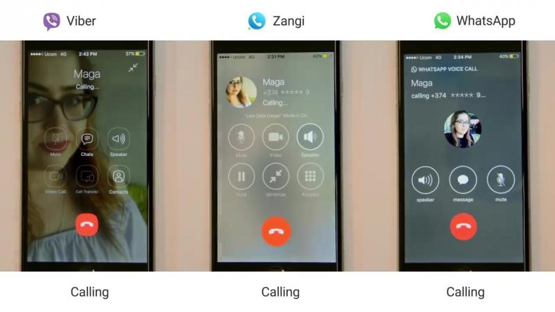 Zangi vs WhatsApp Viber
