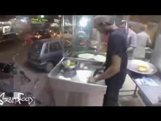 Уличная забегаловка Пакистан Pakora wala Уличная еда Карачи Новый 2017 год
