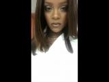 Видео с Instagram Рианны (08.08.2017)