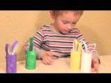 Простые поделки для детей. Зайцы из втулок от туалетной бумаги.