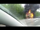 22 июня на трассе Пермь - Березники сгорел КАМАЗ