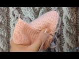 Как сшивать детали вязаного изделия. Сшиваем лицевую гладь. Плечевой шов. Невидимый шов