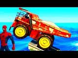 Цветные Машинки Синий Трактор и Супергерои Мультики про машинки Человек Паук Му...