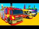 Цветные Машинки для детей Пожарная Машина Скорая Помощь Полицейская Машина Мул ...