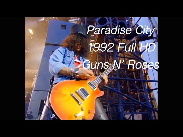 Guns N' Roses - Paradise City Wembley 1992 Freddie Mercury Tribute Concert [Blu Ray HD]