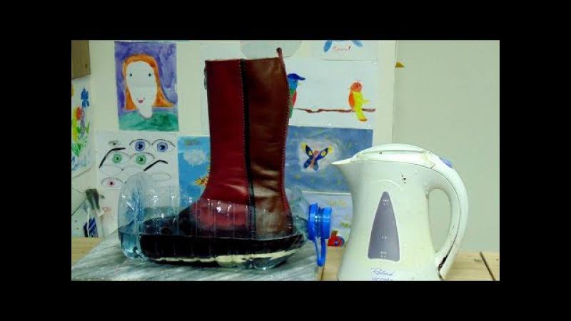 Эксперимент: Водонепроницаемая обувь из кожи / Experimental waterproof shoes made of leather