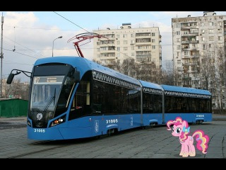 Поездка на трамвае 71-931М Витязь-М № 31005 Маршрут № 17 Москва