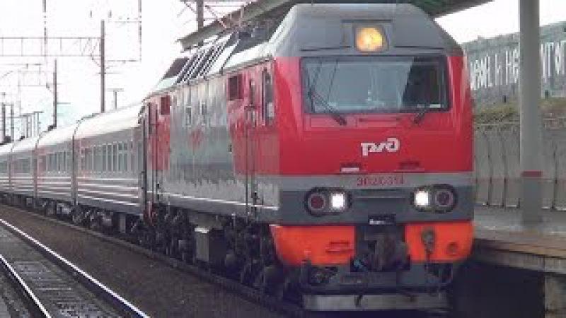 ЭП2К-314 с фирменным поездом №16 Москва - Екатеринбург