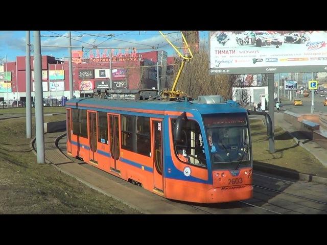 Усть-Катавские трамваи серии 71-623 с маршрутом №17