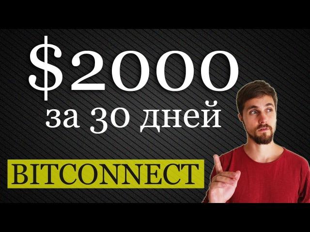 $2000 за 30 дней в Bitconnect! И другие грустные новости