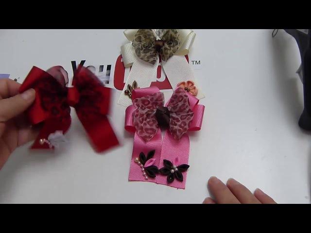 Como decorar Corbatas de liston con mariposas y flores pequeñas, video 599