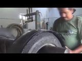 как восстанавливают автомобильные шины в Индии ремонт БУ покрышек  ремонт шин
