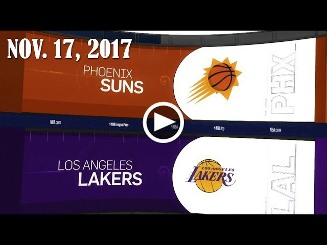 Рhоеnix Suns - LA Lakers | 17.11.17 | 2017/18 NBA Season