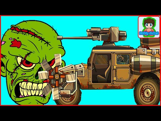 Earn to die - игра как мультик - для детей - красная машинка - от Фаника 5