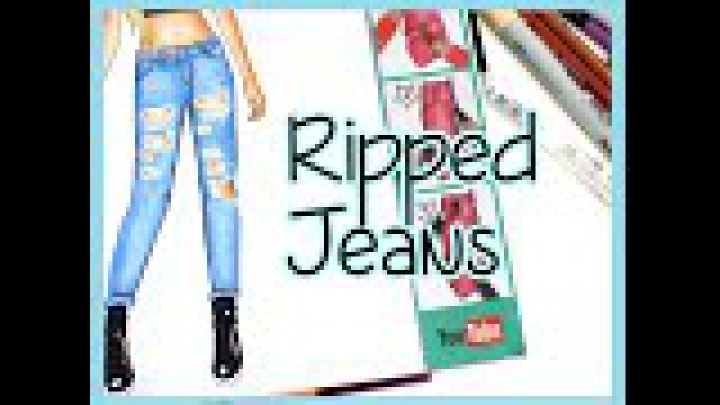 Topmodel Malbuch   How to draw Ripped Jeans   Jeans Hose malen   Copics    Foxy Draws