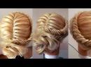 Причёска из косы низкий пучок. Видео-урок. Hair tutorial.