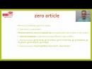 Zero article