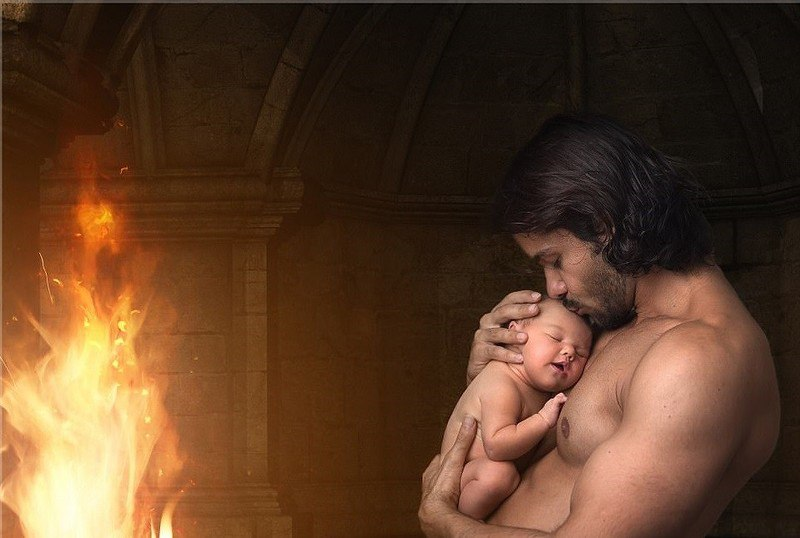 Фотосессия в стиле Игры престолов для младенца