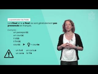 La prononciation des finales et les liaisons - École Polytechnique  Coursera