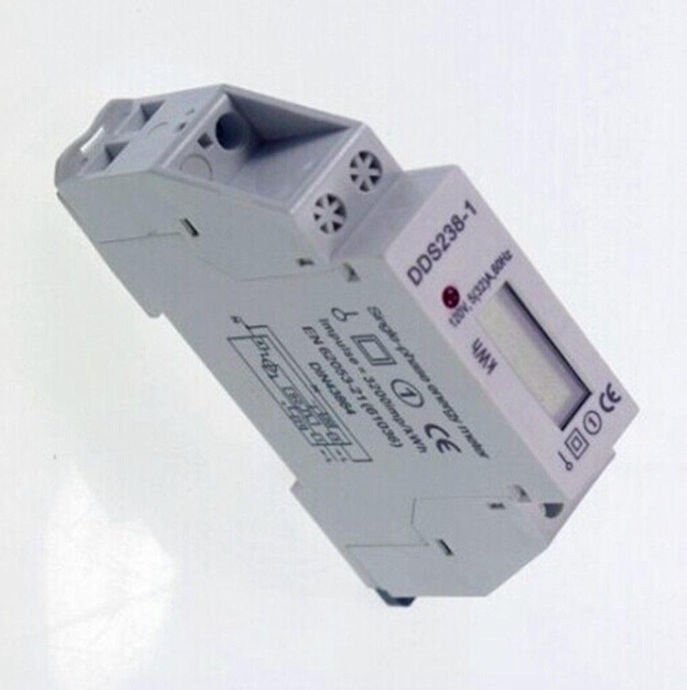 dds238-1 120V 60 ГЦ 5 (32) небольшой одиночная фаза рельс DIN kilowatt-hour