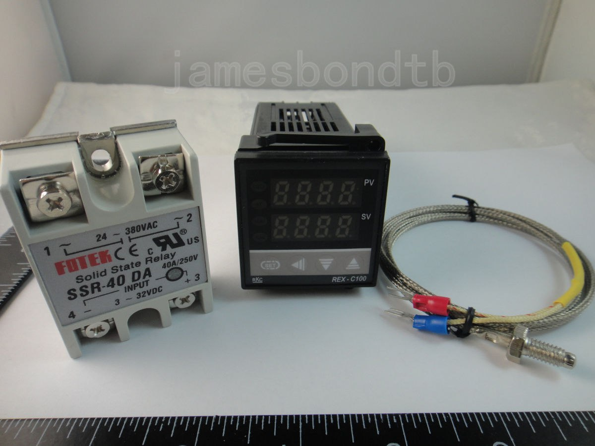 100-240В цифровой пид контроллер температуры Max 40 A SSR K термопары зонд