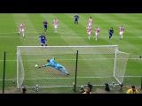 Робин Ван Перси празднует гол в ворота Сток Сити с Сэром Алексом Фергюсоном