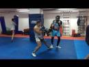 Мой спарринг с тренером Артемом МС по боксу.