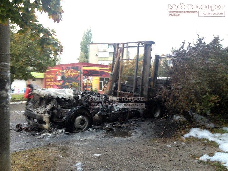 Этой ночью в Таганроге сгорела фура