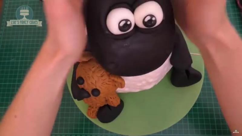 3D-торт по мотивам мультфильма Барашек Шон