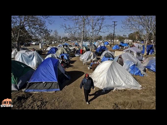 California Tent Cities Grow Massively!