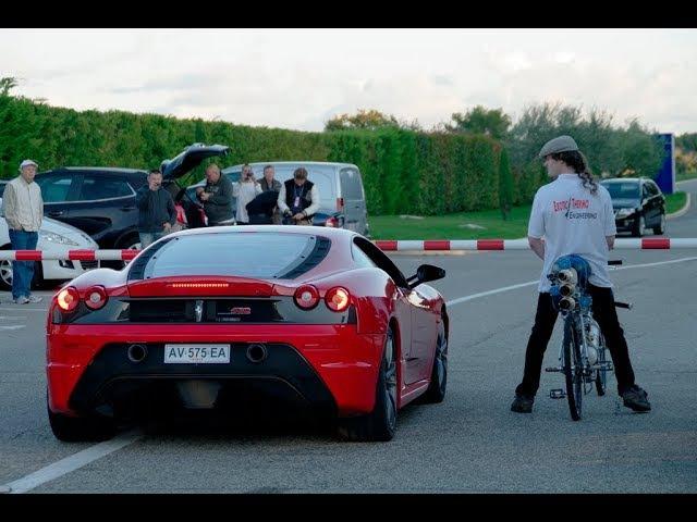 Rocket Bicycle World Record ǀ 333 kmh (207 mph) ǀ Rider François Gissy