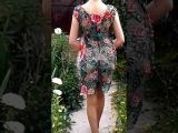 Платье Шепот роз связано по МК Аси Вертен