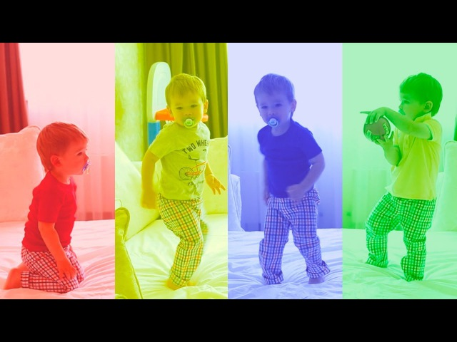 Five BAD BABY Jumping On The Bed Nursery Rhymes for Children Simple Songs for Kids and Babies