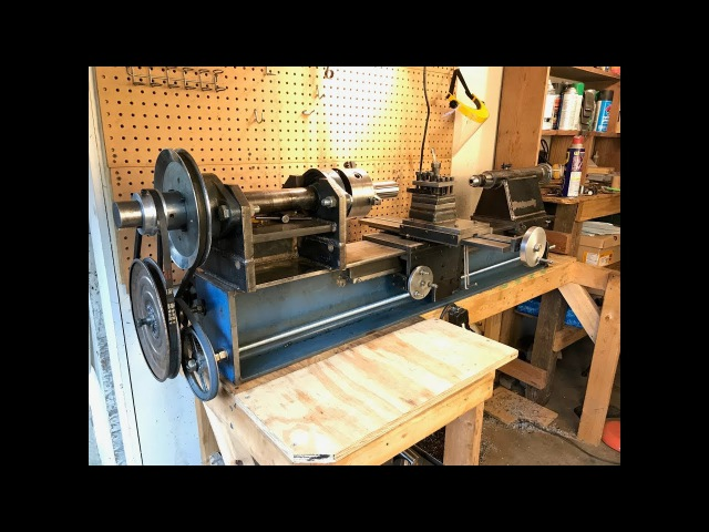 Adding automatic power feed to my home made lathe