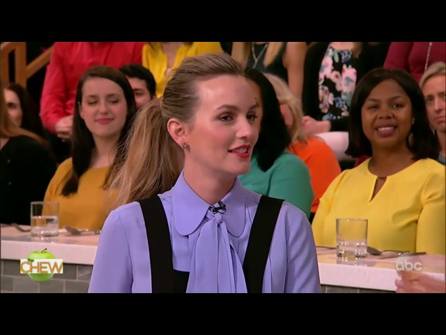 The Chew (February 23, 2017) Actress Leighton Meester; actor Billy Gardell.
