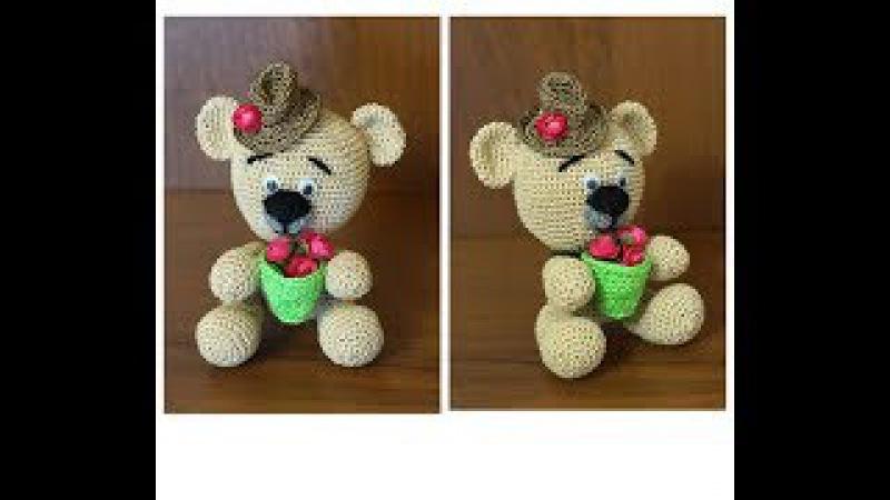 Как связать мишку. Медведь крючком. Мишка крючком. Вязание амигуруми. Ч. 3 (teddy bear. P. 3)