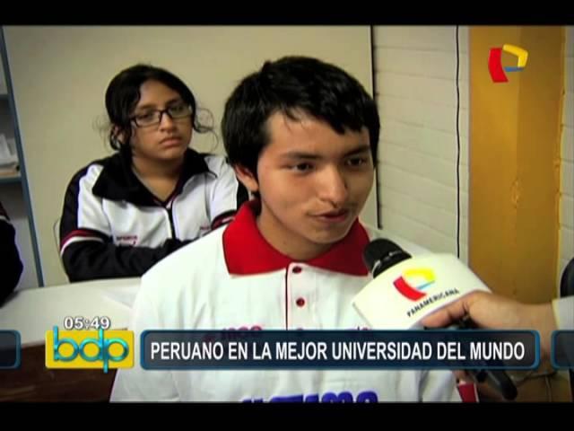 Joven promesa: peruano ganó beca en mejor universidad del mundo
