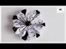 Kwiat ze wstążki 🌼kanzashi 🌼 jak wykonać🌼krok po kroku🌼84