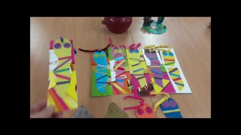 Как сделать Закладки из бумаги и картона.Гусеница,Мышка.Кружок Самоделкины