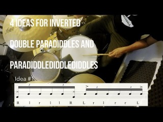 Drum Lesson - Rudiments (#24) - 4 ideas for different inverted Paradiddles