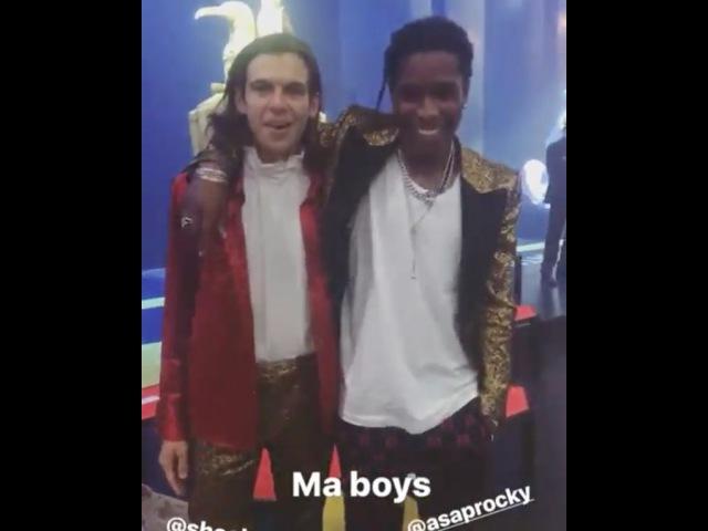 A$AP Rocky и Джеймс Райтон щеголяют новыми нарядами от Gucci