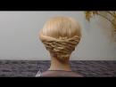 Простая причёска для средних волос-длинных, лёгкая вечерняя причёска, причёска на выпускной
