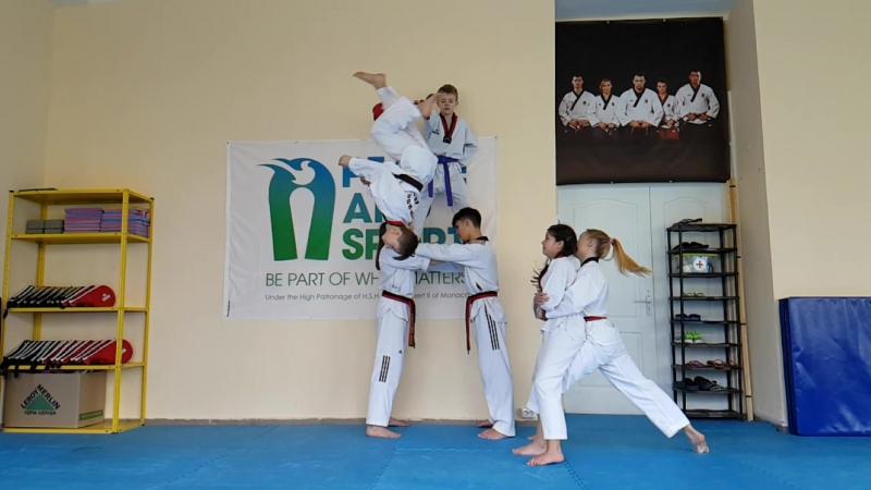 Субботняя тренировка в школе Art Way Taekwondo