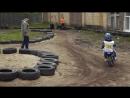 Первые гонки на мотоцикле