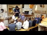 Ваня с группой детского сада в музее хлеба