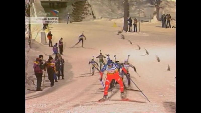 11 01 2006 Биатлон Кубок мира 2005 2006 5 этап Эстафета Женщины