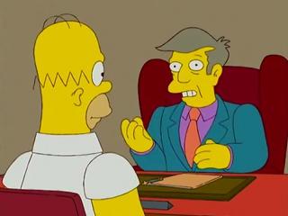 Гомер Симпсон как всегда про Барта,разговор со Скинером