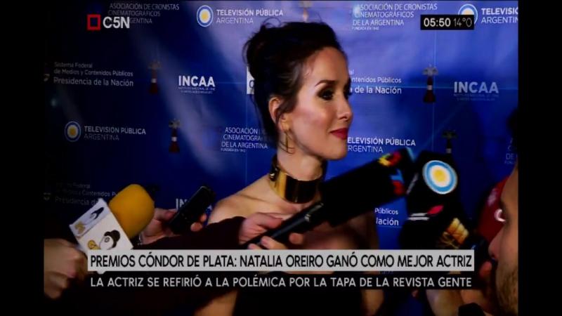 Natalia Oreiro ganó el Premio Cóndor de Plata como Mejor Actriz