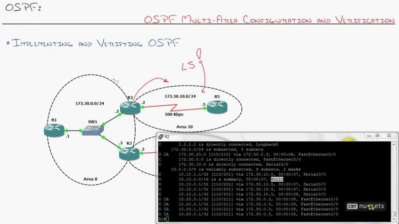 22. ICND2 OSPF Multi-Area Configuration and Verification